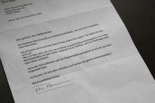 Brief eines zufriedenen Kunden